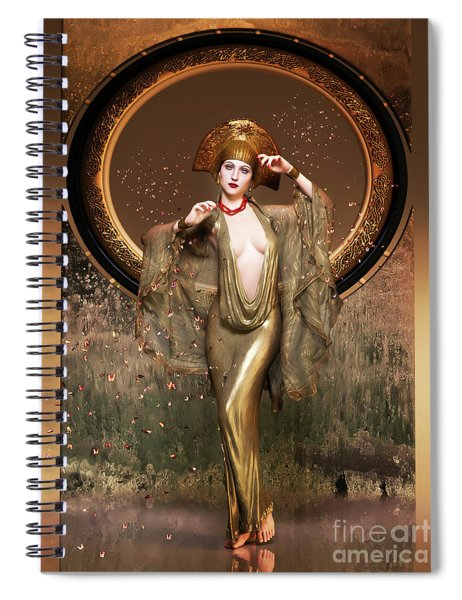 Art Deco Signs Of Spring Spiral Notebook