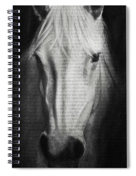 Art In The News 145- Horse Spiral Notebook