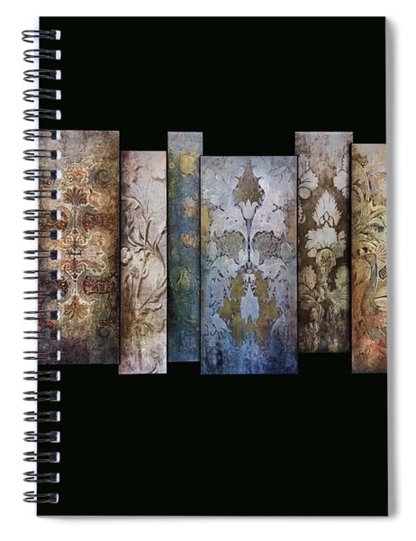 Art Panels - Antique Wallpaper  Spiral Notebook