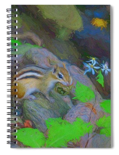 Art Photograph Of Eastern Chipmunk. Spiral Notebook