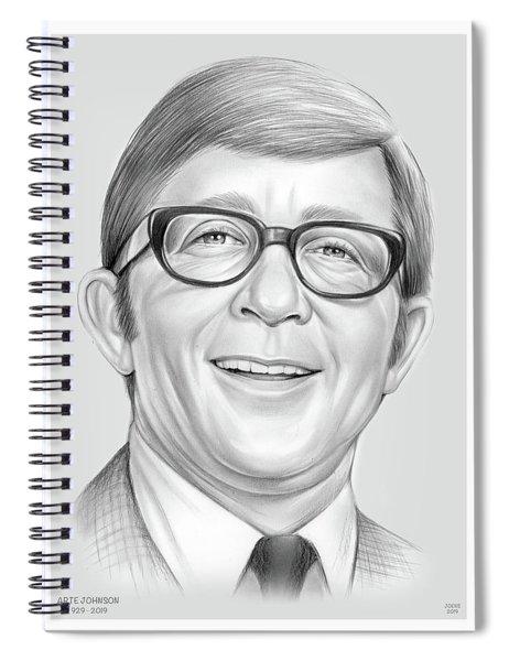 Arte Johnson Spiral Notebook