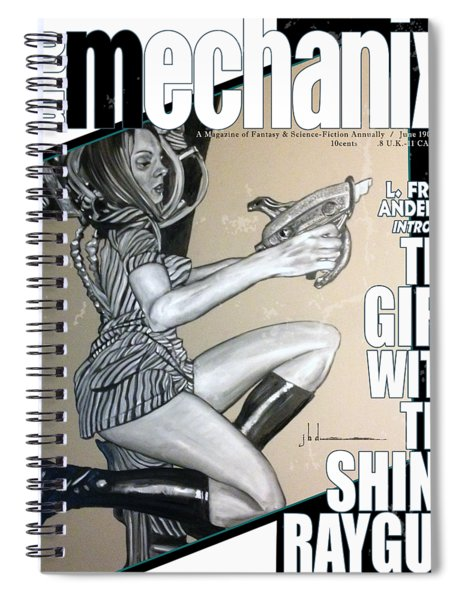 arteMECHANIX 1906 The GIRL WITH The SHINY RAYGUN GRUNGE Spiral Notebook