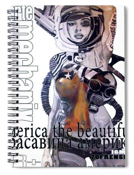 arteMECHANIX 1913 AMERICA THE BEAUTIFUL GRUNGE Spiral Notebook
