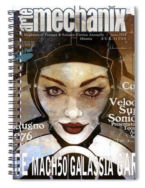 arteMECHANIX 1924 RACE MACH50 GRUNGE Spiral Notebook