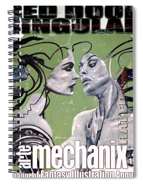 arteMECHANIX 1934 RED DOOR SINGULAR  GRUNGE Spiral Notebook