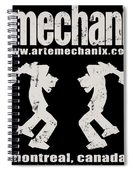 arteMECHANIX OFFICIAL LOGO  GRUNGE Spiral Notebook