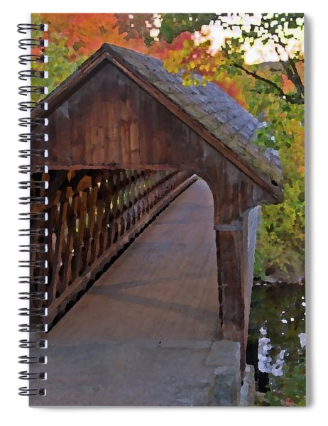 Artistic Rendering Of Henniker Bridge Spiral Notebook