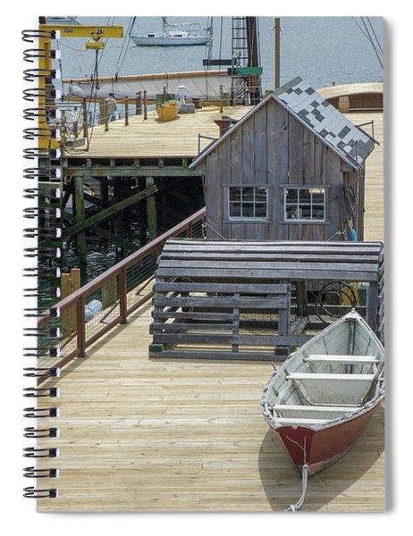 Artistic Seaport Spiral Notebook