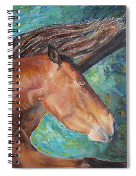 Abstract Horse One Spiral Notebook