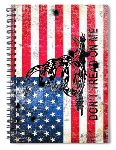 Viper N Bullet Holes On Old Glory Spiral Notebook