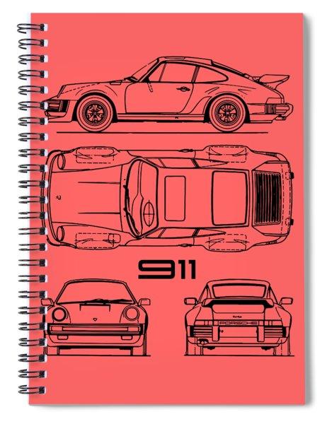 The 911 Turbo Blueprint Spiral Notebook