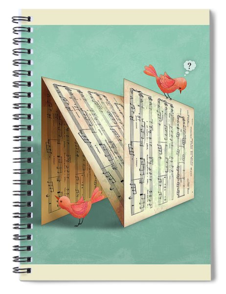 N Is For Notes Spiral Notebook