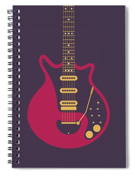 Red Special Guitar - Black Spiral Notebook