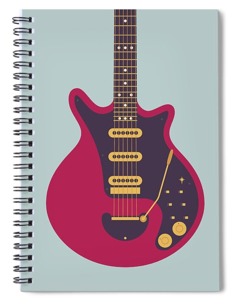 Red Special Guitar - Grey Spiral Notebook
