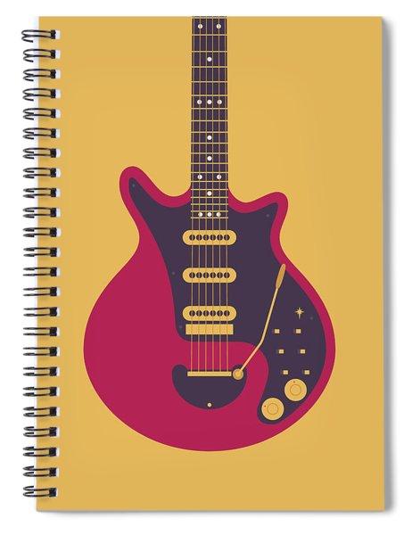 Red Special Guitar - Gold Spiral Notebook