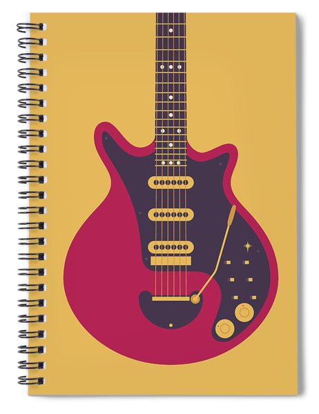 Red Special Guitar - Gold Spiral Notebook