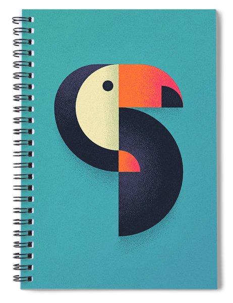 Toucan Geometric - Single Spiral Notebook by Ivan Krpan