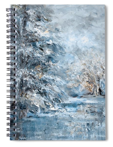 In The Snowy Silence Spiral Notebook