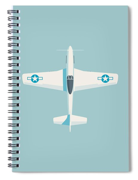 P51 Mustang Fighter Aircraft - Sky Spiral Notebook