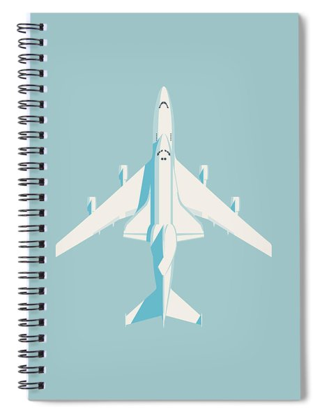 Space Shuttle And 747 Transport Jet - Sky Spiral Notebook
