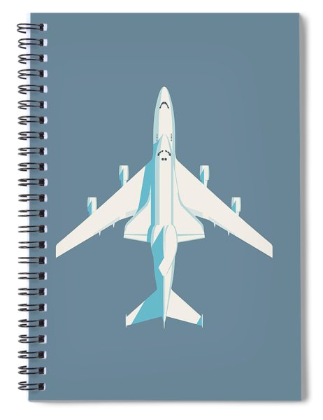 Space Shuttle And 747 Transport Jet - Slate Spiral Notebook