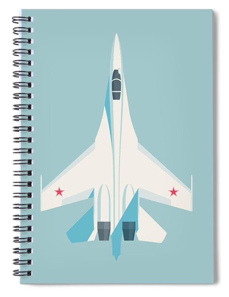 Su-27 Flanker Fighter Jet Aircraft - Sky Spiral Notebook