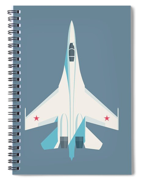 Su-27 Flanker Fighter Jet Aircraft - Slate Spiral Notebook