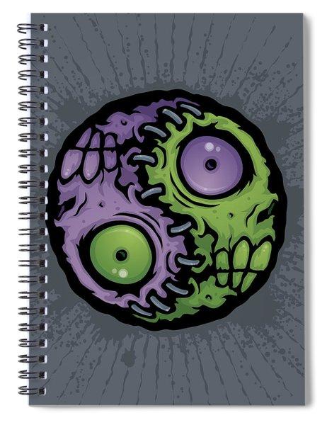 Zombie Yin-yang Spiral Notebook