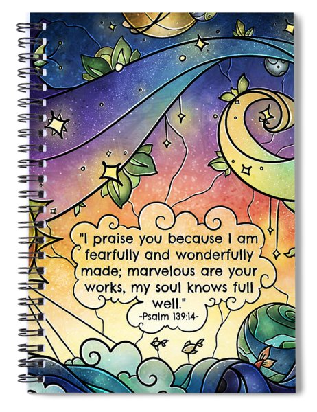 Fearfully And Wonderfully Made By Him Spiral Notebook