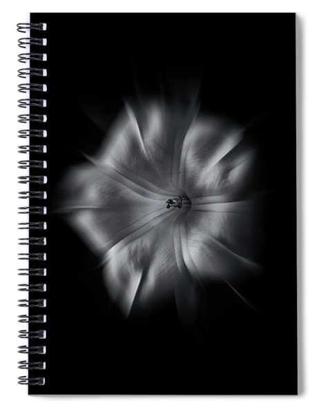 Backyard Flowers In Black And White 24 Flow Version Spiral Notebook
