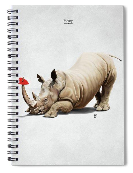 Horny Spiral Notebook
