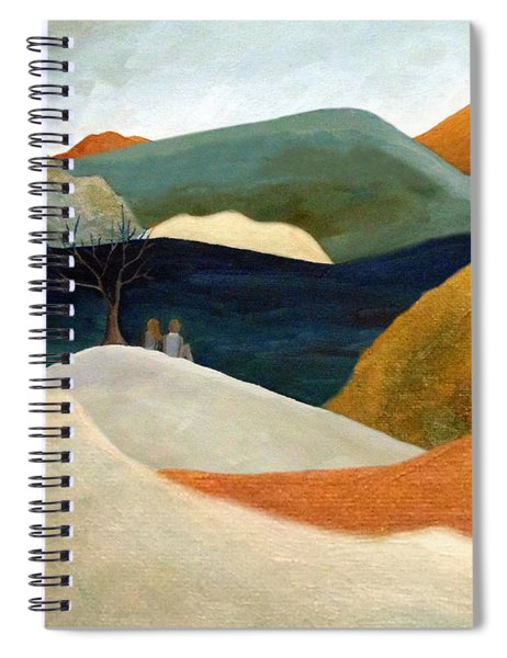 Us Two With A View Spiral Notebook