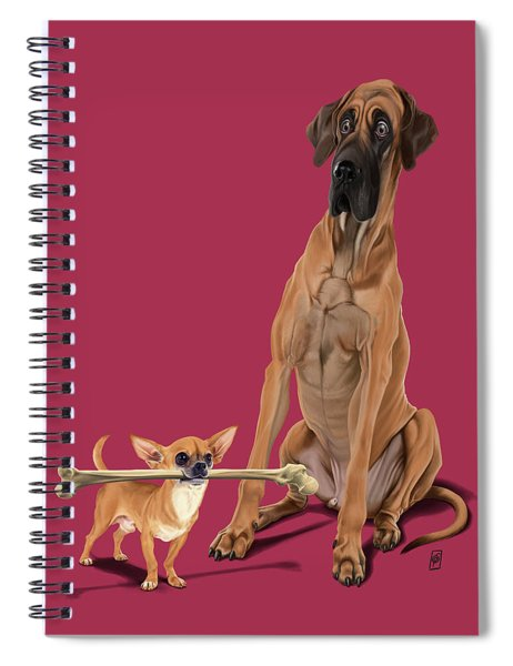 The Long And The Short And The Tall Colour Spiral Notebook