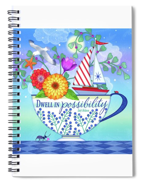 Dwell In Possibility Spiral Notebook