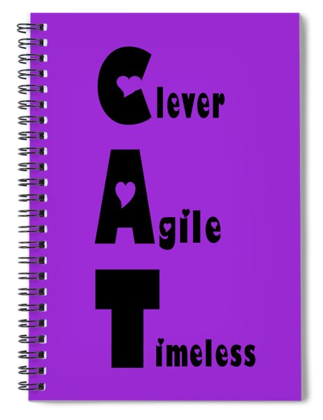 Cat With Black Words Spiral Notebook