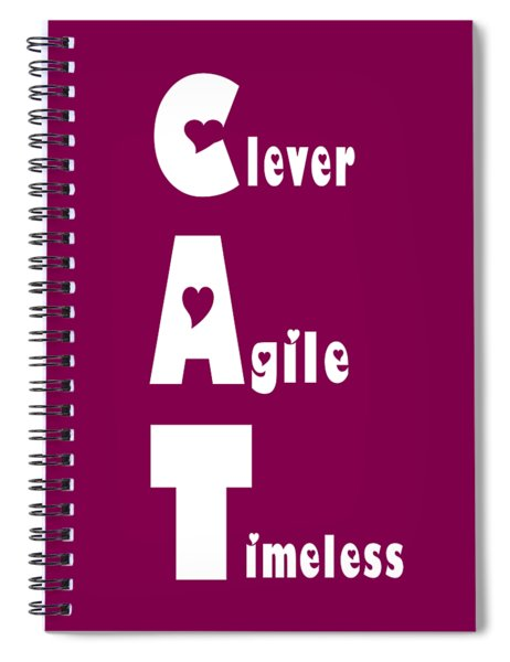 Cat With White Words Spiral Notebook