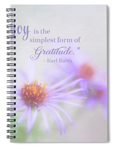 Joy And Gratitude For All Seasons Spiral Notebook