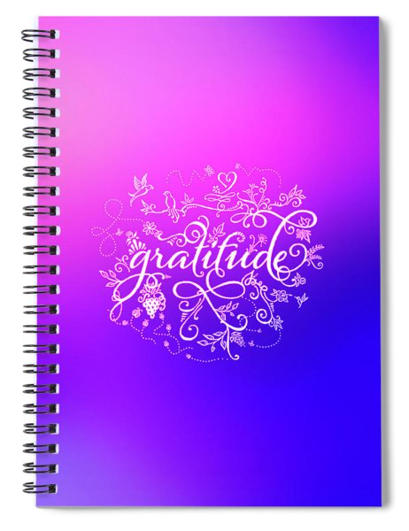 Purply Pink Gratitude Spiral Notebook