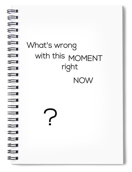 What's Wrong With This Moment Right Now - White Spiral Notebook