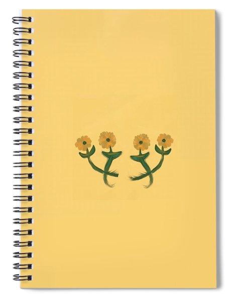 Four In Bronze Spiral Notebook