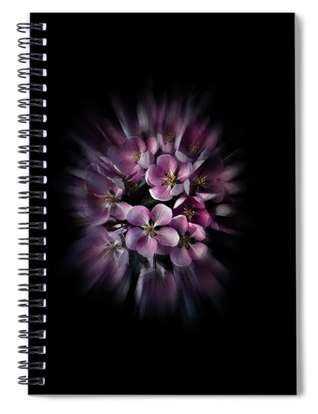 Backyard Flowers 47 Color Flow Version Spiral Notebook