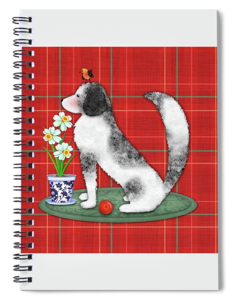 N Is For Newfoundland Dog Spiral Notebook