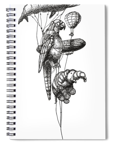 The Helium Menagerie Spiral Notebook