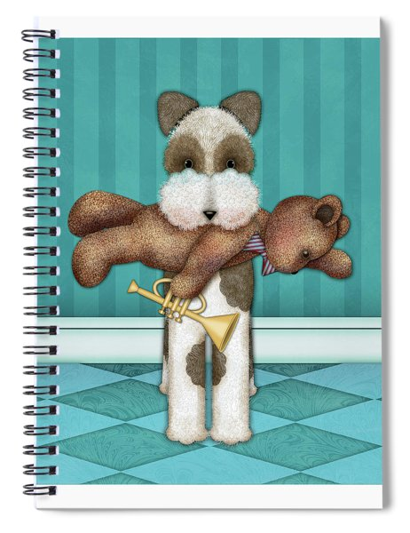 T Is For Terrier And Teddy Spiral Notebook