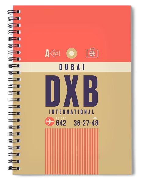 Retro Airline Luggage Tag - Dxb Dubai Spiral Notebook