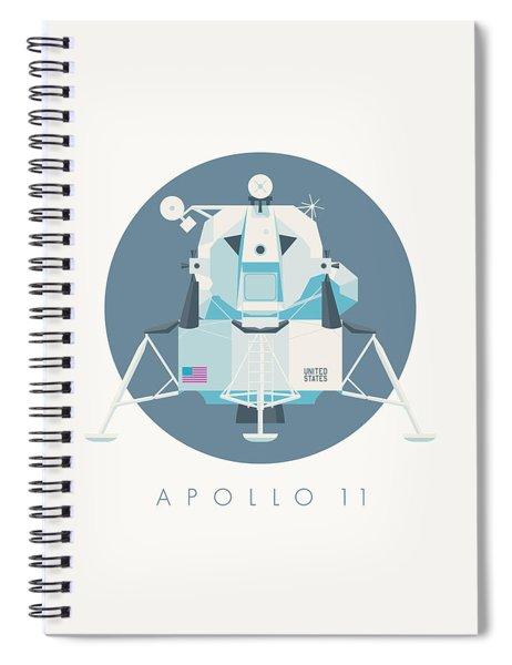 Apollo Lunar Module Lander Minimal - Text Slate Spiral Notebook
