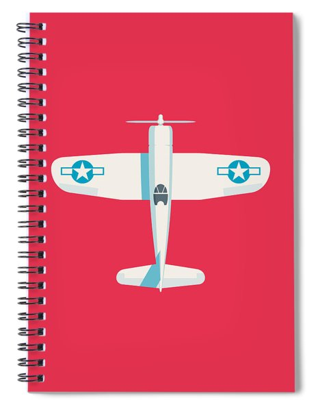 Corsair Fighter Aircraft - Crimson Spiral Notebook