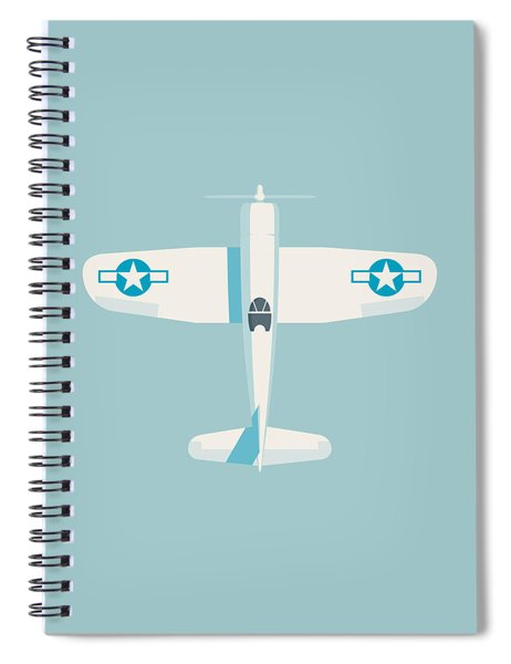 Corsair Fighter Aircraft - Sky Spiral Notebook