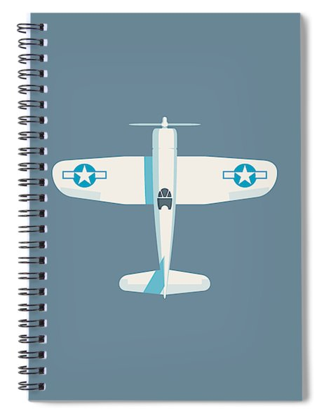 Corsair Fighter Aircraft - Slate Spiral Notebook