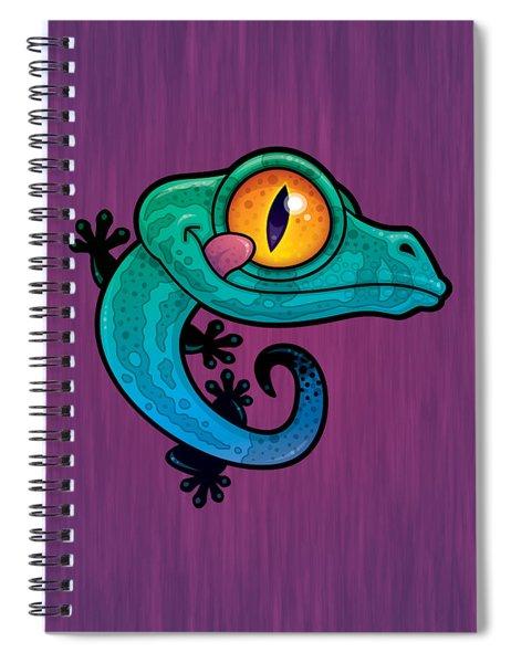 Cute Colorful Cartoon Gecko Spiral Notebook